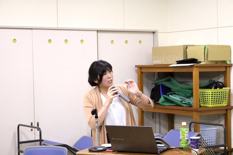 講師の佐藤智恵氏 (青森中央高校:銀座コーチングスクール認定コーチ)