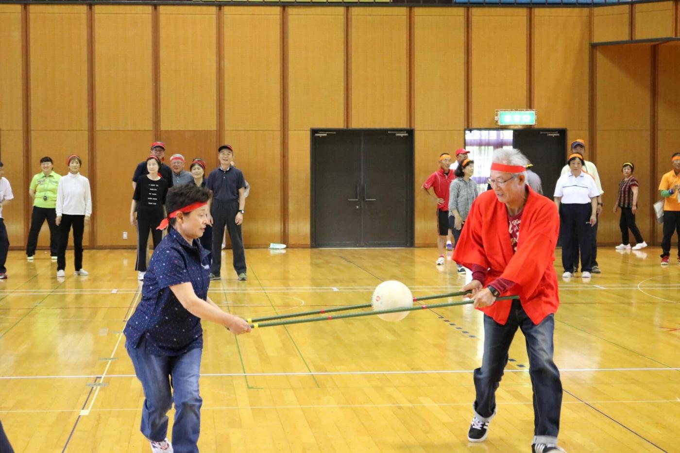 川西町健康レクリエーション大会:競技の様子