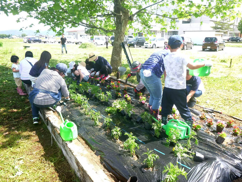 緑化推進事業:花壇整備の様子