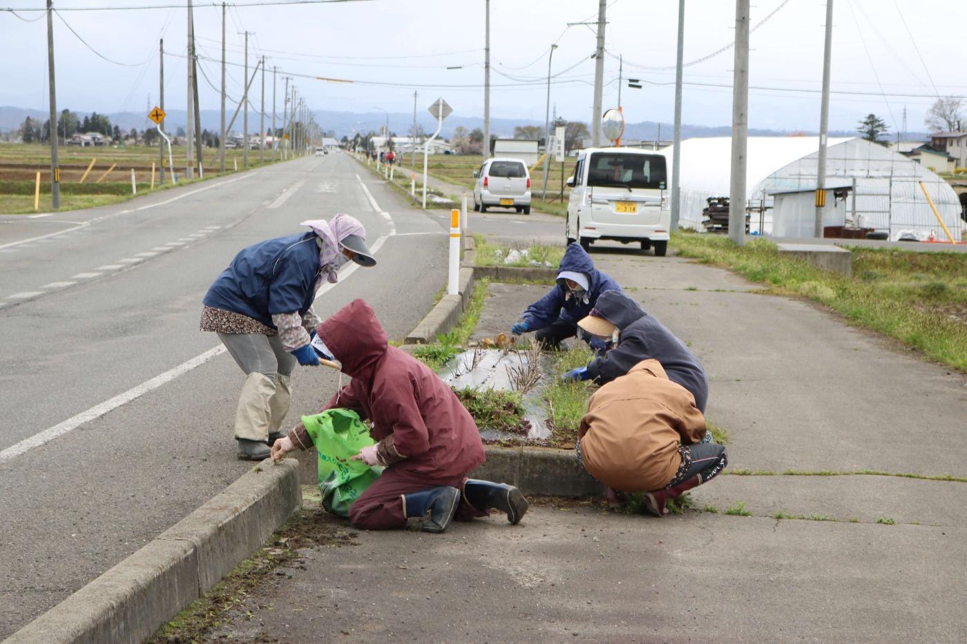 マイロードサポートボランティア:地域の皆さんにご参加いただいたゴミ拾いの様子