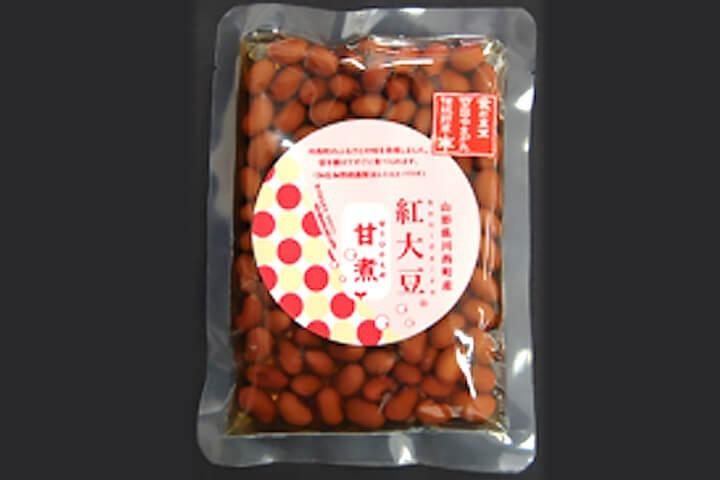 淀野貞彦さん(北方)よりいただいた紅大豆の甘煮の写真