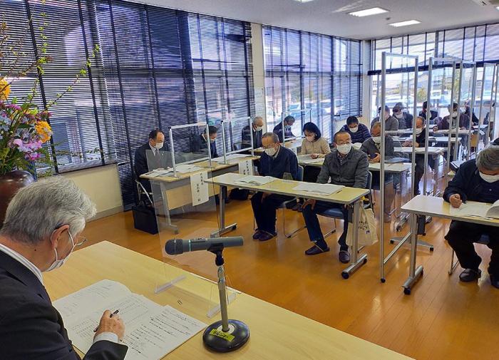 写真:令和3年度きらりよしじまネットワーク総会及び吉島地区各団体総会の様子