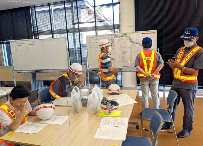 写真:吉島地区総合防災訓練の様子