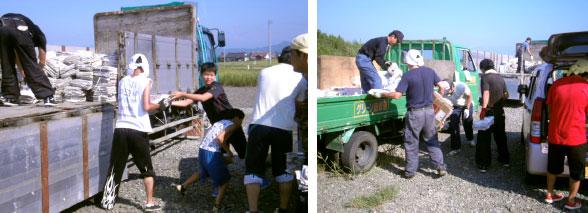吉島地区古紙回収が行われました。